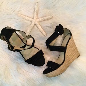 Marc Fisher Haely Suede Wedge Sandals, 7.5